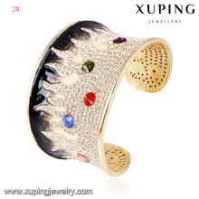 Pulseira -63 moda elegante strass jóia anel pulseira em 24k cor de ouro