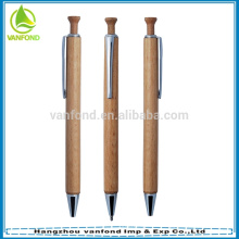 Stylo en bois à bas prix promotionnel cliquez avec kits métalliques
