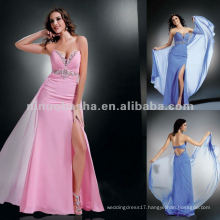 NY-2186 Angled gathered strapless sweetheart top evening dress