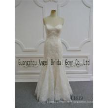 Perlée dentelle champagne perlée robe de mariée sur mesure