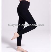 vestir sob perna calças pretas de cachemira para mulheres