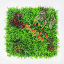 Home decoration durable 1*1M garden synthetic green wall with foliage
