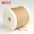 MICC flat type thermocouple wire with fiberglass insulation