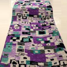 Tissu imprimé en polyester de crêpe pour robes / manteau