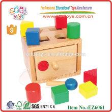 Shape Box Enseigner les premiers jouets éducatifs en bois