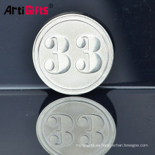 Adquisición personalizada suministra gran calidad de gran muralla de china, moneda de aluminio y plata
