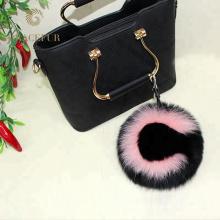 Привлекательный мех мяч сумочка Шарм лиса помпонами брелок