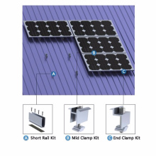 Солнечная Электростанция Солнечные Трапециевидного Металлического Листа Крыши Монтаж Системы