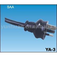 Australian type Power lead Australia -- SAA certificates Power cable