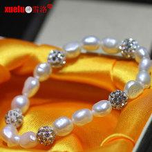 Шармы Мода Природа Пресноводные барокко жемчужины браслет ювелирные украшения (E150054)