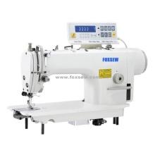 Accionamiento directo computadora alta velocidad sola aguja maquina de coser con condensador de ajuste Auto