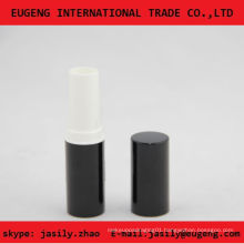 Shiny Black classic round lip balm tube