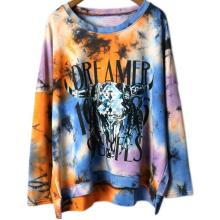Lady Transfer Printing Long Sleeve Shirt Tops in Clothing