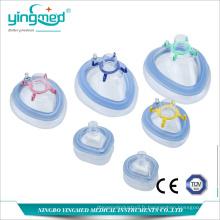 Masque d'anesthésie jetable en PVC sans latex