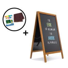 A Frame Chalkboard   Magnetic Porcelain Steel Board