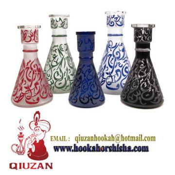 Mittlere Glasur Glasflasche Vase Shisha