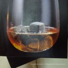 pierre de lave naturelle dés cube pierre à whisky