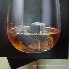 natural lava stone dice cube whisky stone