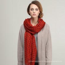 2013 nouveau design hollow-out importé importé mérino châle en laine de grande taille