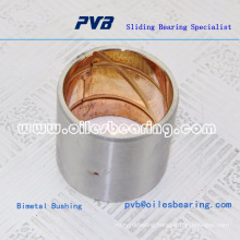 Steel shell backed with a lead bronze lining bearing material for oil lubricated applications