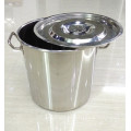 Cheap Factory  Stainless Steel Low Soup Pot Commercial Boiling Pan