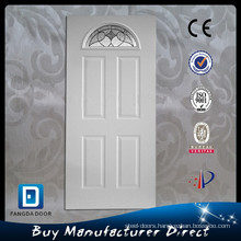 Steel decorative half moon light slab door