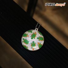 Protective Reflective High Bright PVC Turtle Keychain