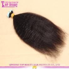 Haute qualité peau bande de trame remy kinky cheveux raides extensions pas cher vierge brésilienne ruban cheveux