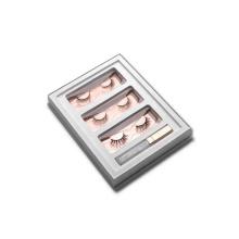 Goldfolie-kosmetische Wimpern, die Kasten mit Deckel verpacken