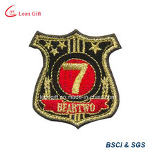 Fil d'or Logo brodé Patch Badge Embroideried