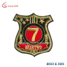Gold Thread Logo Embroidered Patch Embroideried Badge