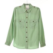 Tencel Garment Dye Chemises longues pour femmes