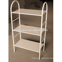 White Shoe Rack Three Tiers for Living Room