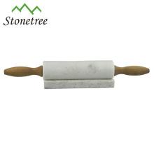 Rouleaux de marbre en pierre naturelle avec support