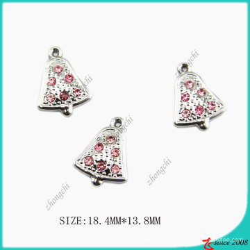 Zinc Alloy Metal Jingle Bell Charm for DIY Jewelry