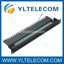 Cat. 3 voce Patch Panel 25port con terra linea 1U