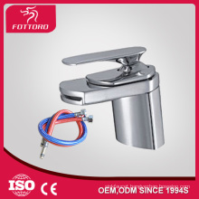 bathroom basin waterfall faucet single brass long handle basin faucet taps
