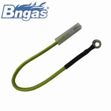 peças de aparelhos a gás verde amarelo fio terra flexível
