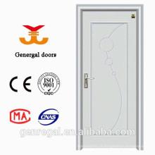 Portas internas de madeira e aço branco para quarto