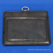 Hot sale genuine leather id card holder with your custom logo & name