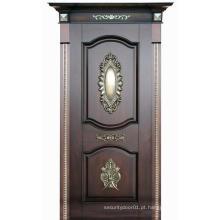 Design clássico porta de madeira maciça