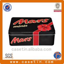 Fabricante Rectangle Cookie Custom Caja de estaño en relieve