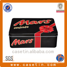 Manufacturer Rectangle Cookie Custom Embossed Tin Box