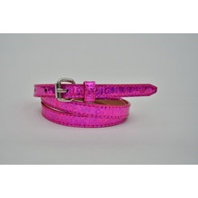 New arrival 2014 Fashion glitter ladies' laser pu belt -KL0081