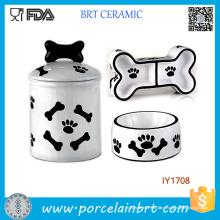 3PCS Armazenamento Jar Alimentos Água Bowl Pet Acessórios Atacado China