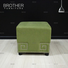 Modern rectangular living room bedroom set/fabric cube ottoman