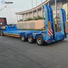 Lowbed Semi Trailer Lowboy Axle para maquinaria pesada