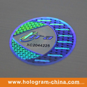Autocollant 3D d'hologramme fait sur commande de laser de la matrice 2D DOT
