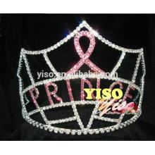 Novo design ornamental desfile fita festa crianças tiara coroa