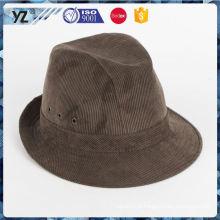 Novo vinda de qualidade superior palha Homburg chapéu rápido envio